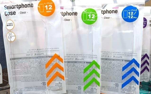 100均 ダイソー iPhone12 クリアケース ポリカーボネート