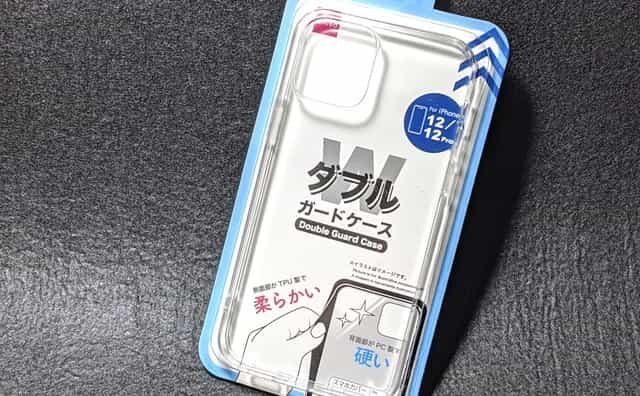 ダイソーiPhone12ダブルガードケース ハイブリッド